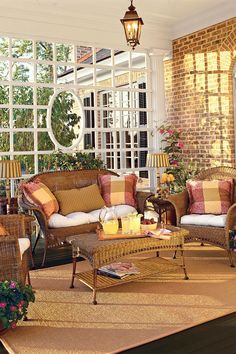 Live-In Back Porch | Patios and porches are an integral part of Southern culture. These classics are inviting and inspiring. It's no secret that we Southerners live for our porches. Is there any memory sweeter than those of childhood suppers on screened porches, or swinging the night away on the perfectly-designed porch. Face it: we pay for our mild winters with our sultry summers, and while modern air-conditioning may have made those deep porches of the past unnecessary, our Southern spirit