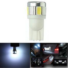 [US$1.38] T10 6SMD 5630 SMD 194 W5W Car Light Bulb Pure White 12V 3W  #5630 #6smd #bulb #light #pure #white