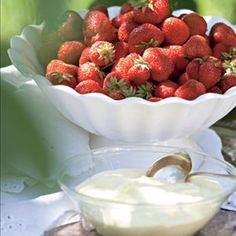 Strawberries with cream - that is summer! Finland, Strawberries, Pudding, Cream, Fruit, Country, Desserts, Summer, Food