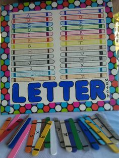 crayon letters with crayon pieces