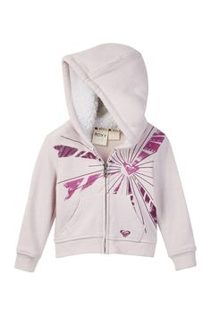 Let The Sun Shine Faux Fur Lined Hoodie (Baby Girls)