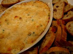 Hot Crab dip...I add one small jalapeno, chopped, seeded and diced to make it a bit more interesting :o)