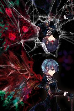 Tokyo Ghoul: I know that this is suppose to be Touka, but it looks like Ciel had a child with her. I like it!