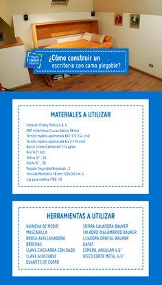 ¡Cómodo y funcional! Aprende cómo construir un escritorio con cama plegable en el siguiente #HágaloUstedMismo #Hum #Sodimac #Homecenter