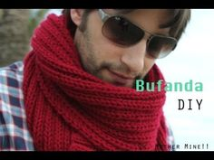 Tutorial: Como hacer una bufanda con dos puntos del derecho y dos puntos del revés