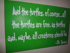 First, I can't wait to actually see and hold the lil turtle you got! Second- turtles can metaphorically be religion. Therefore, I say we continue to pray for religious freedom! :)