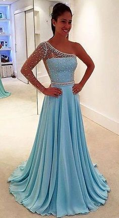 Simple Prom Dresses, prom dresses prom gown light blue prom dress prom dress one shoulder prom dress two piece prom dress cheap formal dress evening dress custom plus LBridal Cheap Formal Dresses, Prom Dresses Two Piece, Prom Dresses For Teens, Prom Dresses Long With Sleeves, Cheap Evening Dresses, Beautiful Prom Dresses, Prom Dresses Blue, Party Dresses, Prom Gowns