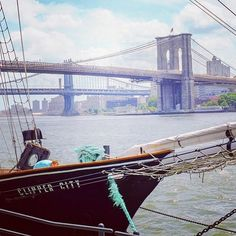 The Brooklyn and Manhattan Bridges viewed from South Street Seaport. #TiffanyPinterest #eastriver #newyorkcity