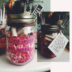 Going away present idea: it's the gift that keeps on giving! Throw a bunch of notes in a jar and instruct the person to take out only one note per week.
