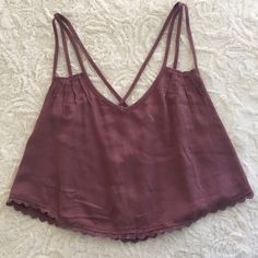 LA Hearts Brand Crop Top BRAND NEW WITH TAGS! Mauve colored crop top. The top is loose with a double strap in the front and in the backs crisscross. LA Hearts Tops Crop Tops