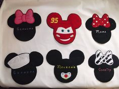 Mickey Minnie Luggage Stroller Tags Large Size, Disney World, Disneyland Disney Cruise Line vacation, spotter. $12.95, via Etsy.