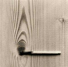 Subtle yet effective By Chema Madoz #match #strike #gotalight #tabletop #grain #burn #photography #art