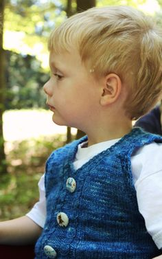 Free Knitting Pattern - Toddler & Children's Clothes: George's Vest