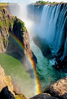 Victoria Falls, Zambia and Zimbabwe. I recommend swimming in the Devil's Pool and taking a micro-light over the falls.