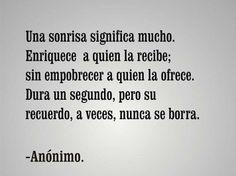 Una Sonrisa... (Anónimo)