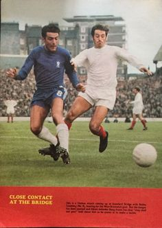 Chelsea 3 West Brom 1 in Aug 1968 at Stamford Bridge. Bobby Tambling and Doug Fraser in action #Div1