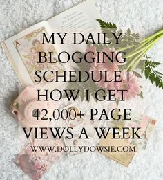 My Daily Blogging Schedule | How I Get 42,000+ Page Views A Week ♥ | Dolly Dowsie