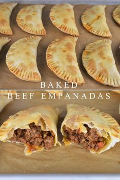 These beef empanadas are baked not fried and feature an easy-to-make ground beef. - These beef empanadas are baked not fried and feature an easy-to-make ground beef filing. Great Appetizers, Appetizer Recipes, Beef Appetizers, Dinner Recipes, Dinner Ideas, Snack Recipes, Beef Steak Recipes, Quick Ground Beef Recipes, Chicken Recipes