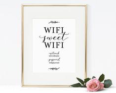 Wifi Sweet Wifi WIFI Password Printable Wifi by SmittenPaperProps