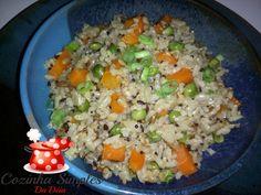 Uma refeição completa!     Ingredientes:   1 pacote de Mix 8 grãos 100% integral da CALDO BOM   1 e 1/2 xícara de cenoura em cubos ...
