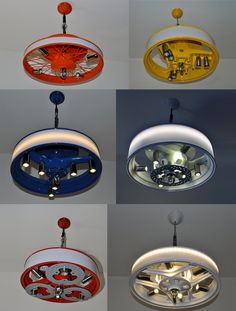 cool pendant #lighting fixtures from #repurposed tire rims!