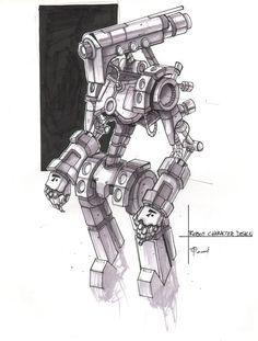 Robot Character Design by ZeroCartin.deviantart.com on @DeviantArt