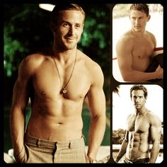 Ryan Gosling, Channing Tatum & Ryan Reynolds in a collage I made for eye candy purposes!  ; ) e.l.