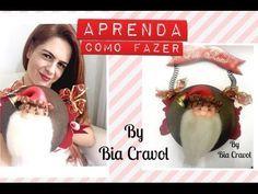 Guirlanda de Papai Noel de biscuit - DIY - Bia Cravol - aula de biscuit - YouTube