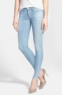 Hudson Jeans 'Krista' Super Skinny Jeans (Light My Fire) available at #Nordstrom