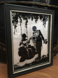 A personal favorite from my Etsy shop https://www.etsy.com/listing/499124226/silhouette-reverse-painted-on-glass