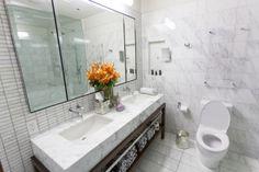 A super chic bathroom... our interior decorators approve! #fabfound