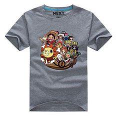 New Fashion Men Japan Anime ONE PIECE T Shirt Casual short sleeve Men tshirt Luffy Family T Shirt Cartoon clothing