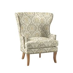 Sitting Room - Thurston Wing Chair with Antique Brass Nailheads