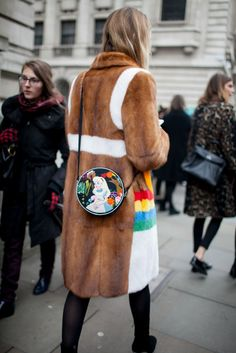 London Fashion Week street style. I love the colors in this look. They remind me of the revival of the seventies trend, one of my favorite things going on right now!