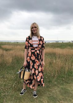 Ganni street style | Marie Hindkær | Geroux Silk Wrap Dress