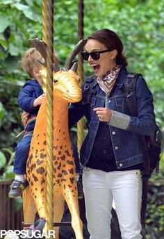 Natalie Portman treats her son Aleph to the perfect park day in Paris | The cutest pictures! @POPSUGAR Moms