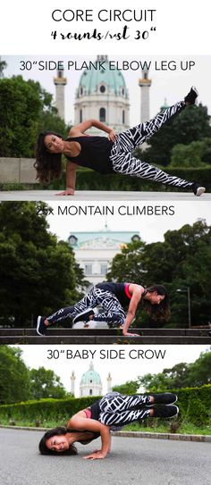Strong core, strong practice – Angie Fliehser #coretraining #rumpftraining Rumpf Training, Side Crow, Side Plank, Climbers, Workouts, Core, Strong, Fitness, Work Outs