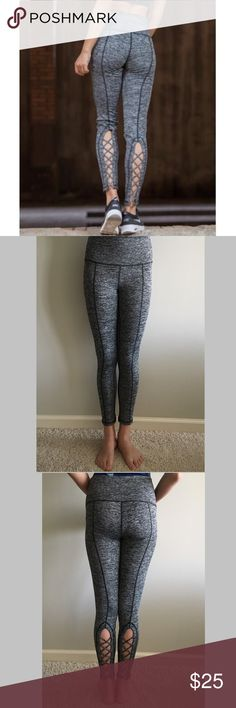 """$25❤️New Sexy & Sporty CrossFit Strappy Leggings ❤️New Sexy Strappy CrossFit leggings   Supersoft and smooth with sporty seaming.  * Skinny leg * Mid weight * Supersoft and smooth with stretch * Flat waistband * Long 26"""" inseam * Machine wash * Polyester/Spandex Non Branded Pants Leggings"""