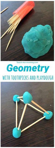 Geometry Playdough and toothpicks