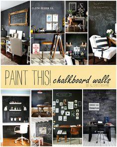 Chalkboard walls in office spaces