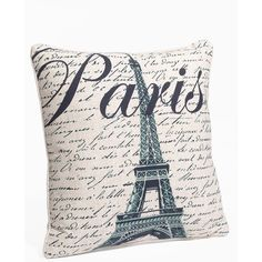 C & F 'Paris' Pillow ($34) ❤ liked on Polyvore featuring home, home decor, throw pillows, pillows, paris, fillers, backgrounds, eiffel tower home decor, paris throw pillows and ivory throw pillows