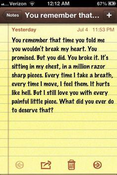 Heartbroken. This is a perfect description