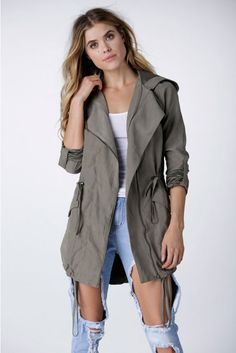 On The Road Anorak Jacket in Olive | Necessary Clothing