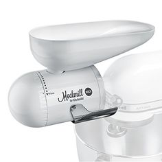 Shop for Wolfgang Mock Mockmill KitchenAid White Metal and Ceramic Grain Mill Attachment. Get free delivery On EVERYTHING* Overstock - Your Online Kitchen & Dining Shop! Kitchen Aid Mixer, Kitchen Appliances, Gluten Free Kitchen, Kitchenaid Stand Mixer, Kitchen Essentials, Ceramic Bowls, Can Opener, Cool Kitchens, Grains