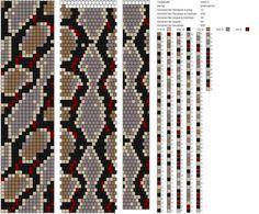 Crochet Bracelet Pattern, Crochet Beaded Bracelets, Bead Crochet Patterns, Bead Crochet Rope, Beaded Crafts, Peyote Patterns, Bracelet Patterns, Beading Patterns, Stitch Patterns
