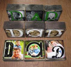 PERSONALIZED Gift Photo Blocks MOM Dad POP by WasteNotRecycledArt, $22.50