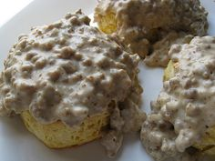 Sausage Gravy Recipe. Personally, I think it looks disgusting, but Jake loves this stuff so I'd love to know how to make it. And this recipe doesn't seem too hard