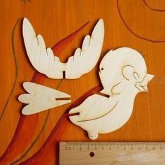 3D Vogel aus 3mm starkem Sperrholz, Zeichnung beidseitig. Zunächst mal ein paar Maaßangaben: Größe des Körpers in der Höhe 130mm, Breite 120mm,