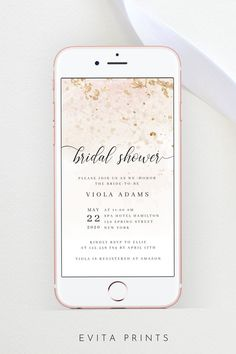 Electronic Bridal Shower Invitation Template Bridal Shower | Etsy Bachelorette Party Invitations, Bridal Shower Invitations, Get The Party Started, Pink Watercolor, As You Like, Rsvp, Smartphone, Stationery, Templates
