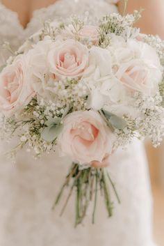 Wedding of the Week: Emma Colby and Jason Grant at Raithwaite Estate, Whitby | Blush pink rose bouquet | bridemagazine.co.uk